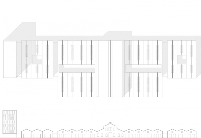 roof plan and south facade